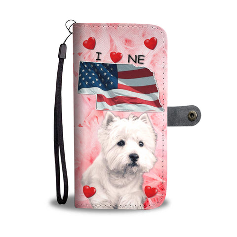 West Highland White Terrier Print Wallet CaseNE State