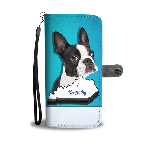 Amazing Boston Terrier 3D Print Wallet CaseKY State