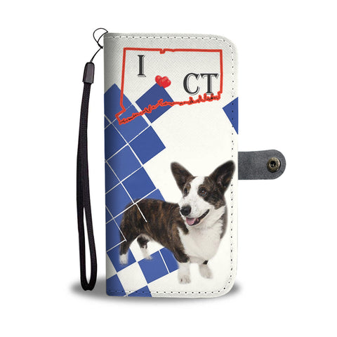 Cardigan Welsh Corgi Print Wallet CaseCT State
