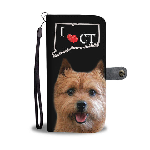 Norwich Terrier Print Wallet CaseCT State