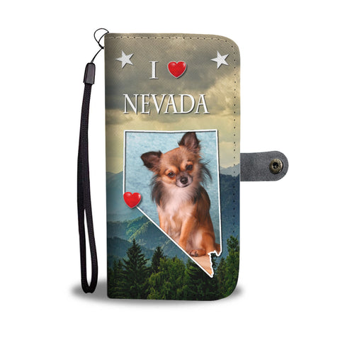 Lovely Chihuahua Print Wallet CaseNV State