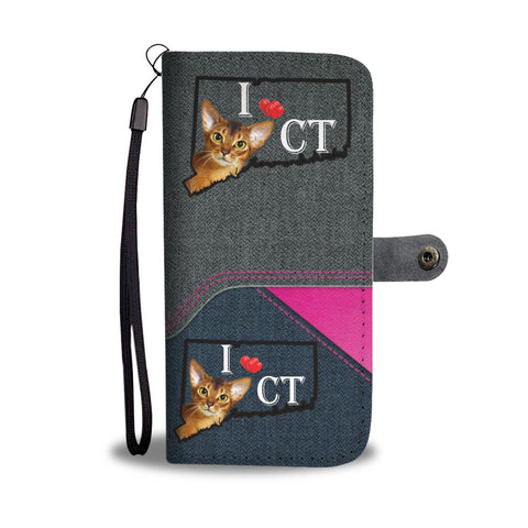 Abyssinian cat Print Wallet CaseCT State