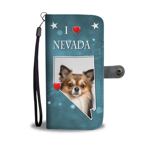 Cute Chihuahua Print Wallet CaseNV State
