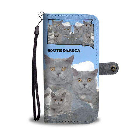 Mount Rushmore British Shorthair Cat Print Wallet CaseSD State