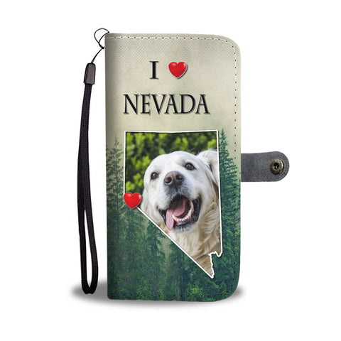 Cute Golden Retriever Print Wallet CaseNV State