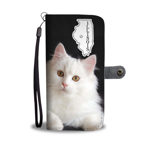 Persian cat Print Wallet CaseIL State