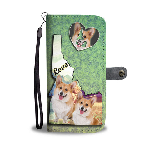 Cardigan Welsh Corgi Dog Print Wallet CaseID State