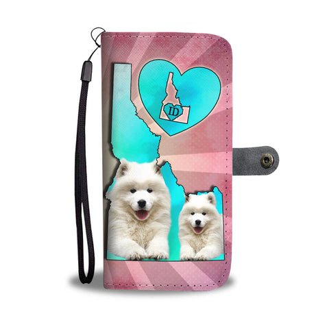 Cute Samoyed Dog Print Wallet CaseID State