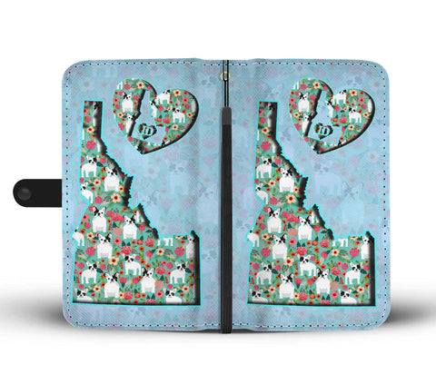 French Bulldog Floral Print Wallet CaseID State