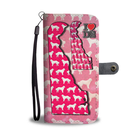 Great Pyrenees Dog Pattern Print Wallet CaseDE State
