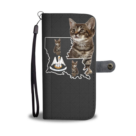 Manx cat Print Wallet CaseLA State
