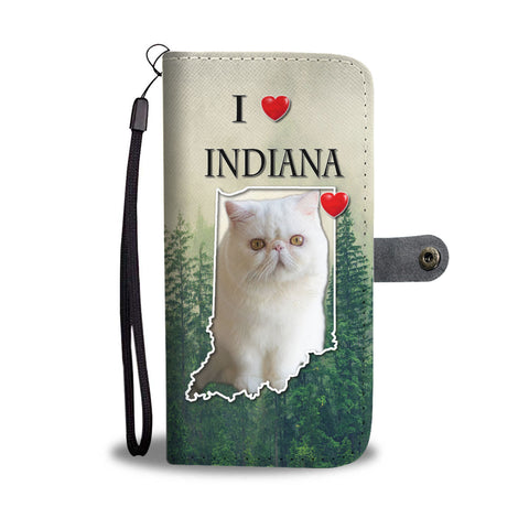 Cute Exotic Shorthair Cat Print WalletIN State