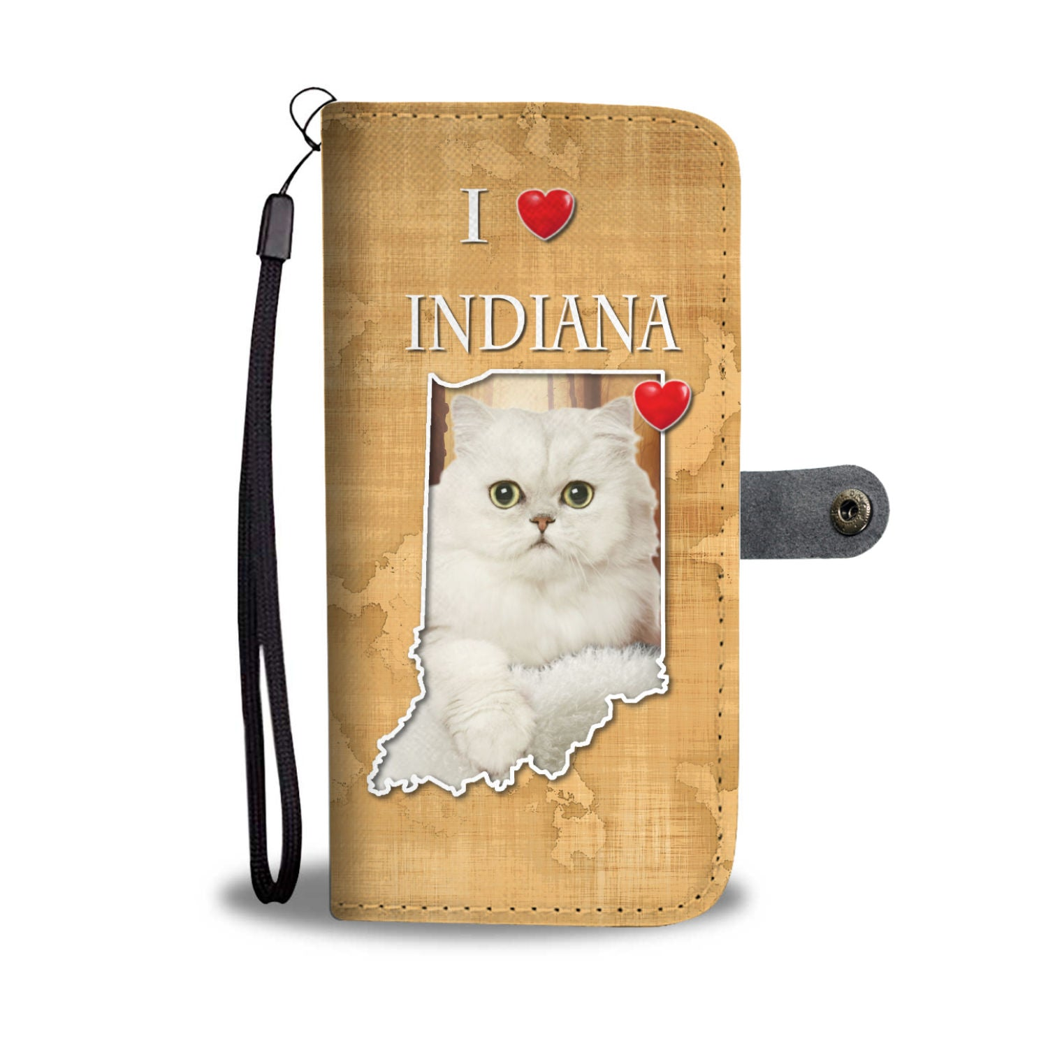 Persian Cat Print Wallet CaseIN State