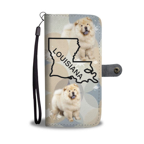 Chow Chow Dog Print Wallet CaseLA State