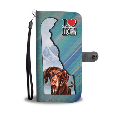 German Shorthaired Pointer Print Wallet CaseDE State