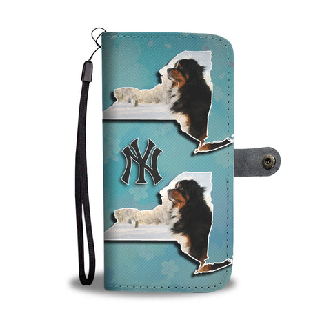 Bernese Mountain Dog Print Wallet CaseNY State