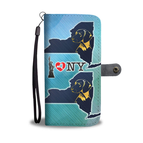Vizsla Dog Golden Art Print Wallet CaseNY State