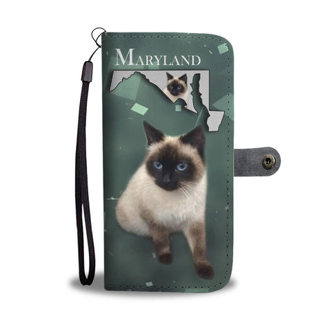 Amazing Balinese Cat Print Wallet CaseMD State