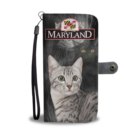 Egyptian Mau Cat Print Wallet CaseMD State