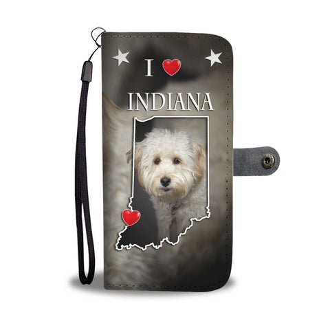 Cute Labradoodle Print Wallet CaseIN State