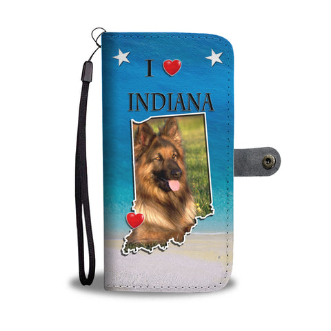 Cute German Shepherd Print Wallet CaseIN State