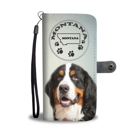 Bernese Mountain Dog Print Wallet CaseMT State