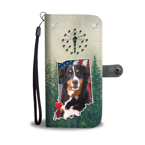 Bernese Mountain Dog Print Wallet CaseIN State