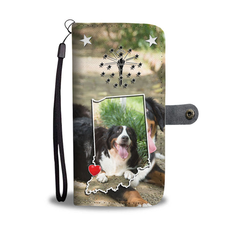 Lovely Bernese Mountain Dog Print Wallet CaseIN State