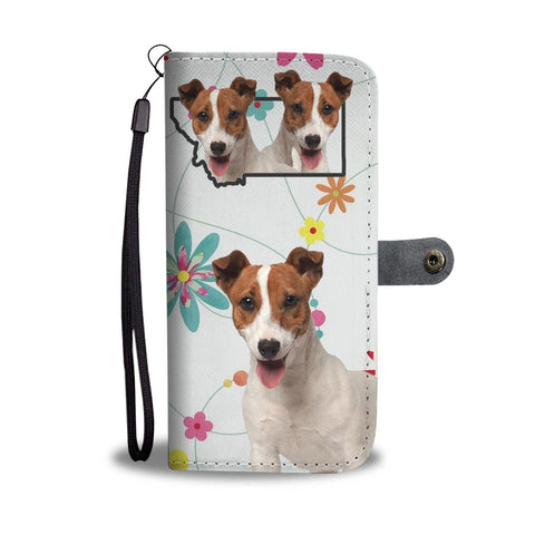 Jack Russell Terrier Print Wallet CaseMT State