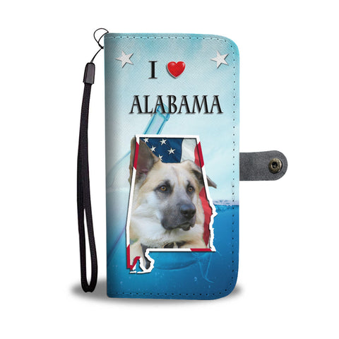 Cute Chinook Dog Print Wallet CaseAL State