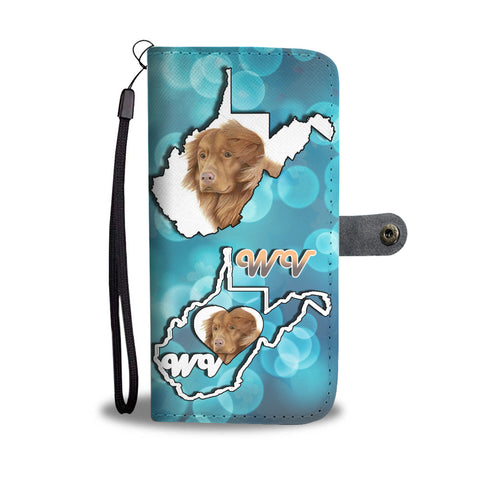 Nova Scotia Duck Tolling Retriever Dog Print Wallet CaseWV State