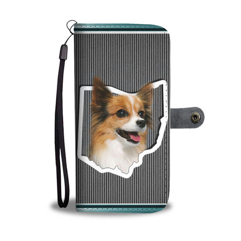 Papillon Dog Print Wallet CaseOH State