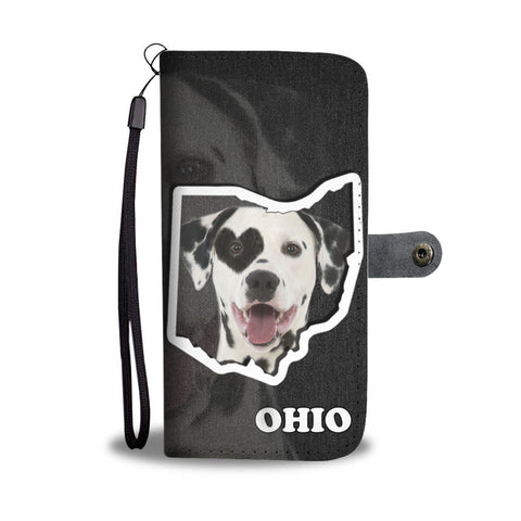 Dalmatian dog Print Wallet CaseOH State