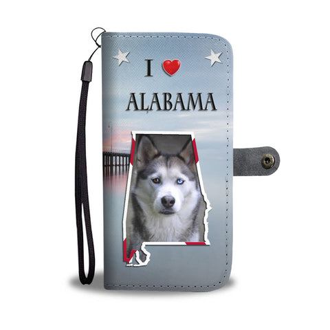Siberian Husky Print Wallet CaseAL State