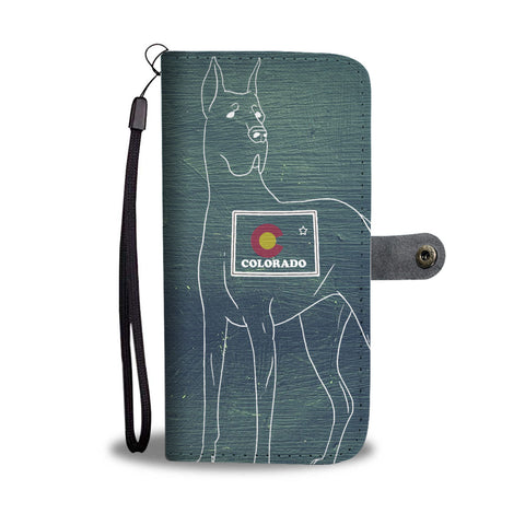 Great Dane Print Wallet CaseCO State