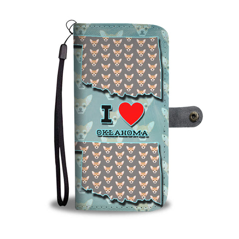 Cute Chihuahua Dog Pattern Print Wallet CaseOK State