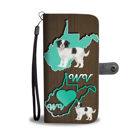 Cute Japanese Chin Print Wallet CaseWV State