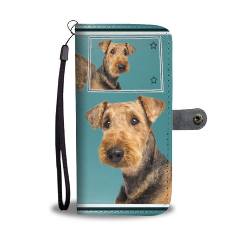 Airedale Terrier Print Wallet CaseCO State
