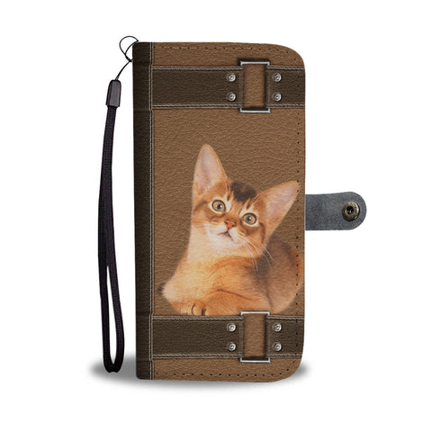 Abyssinian Cat Print Wallet CaseCO State