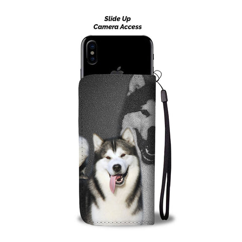 Alaskan Malamute Dog Print Wallet CaseCO State