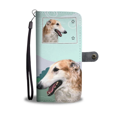 Borzoi Dog Print Wallet CaseCO State