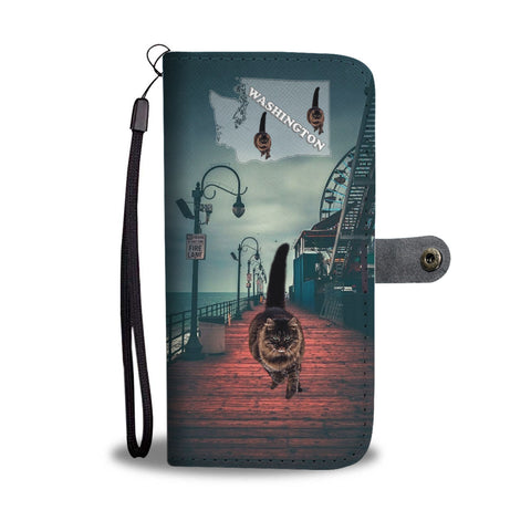 Amazing Maine Coon Cat Print Wallet CaseWA State