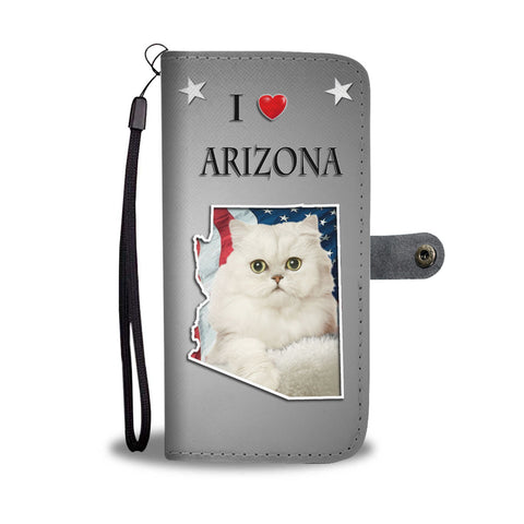 Persian Cat Print Wallet CaseAZ State