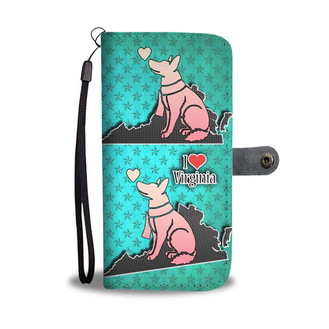 German Shepherd Dog Art Print Wallet CaseVA State