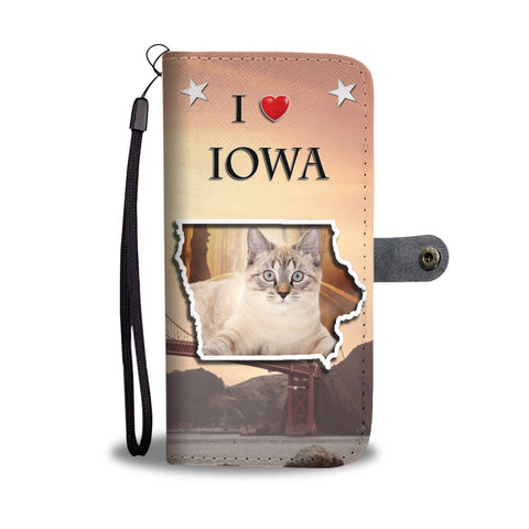 American Bobtail Cat Print Wallet CaseIA State