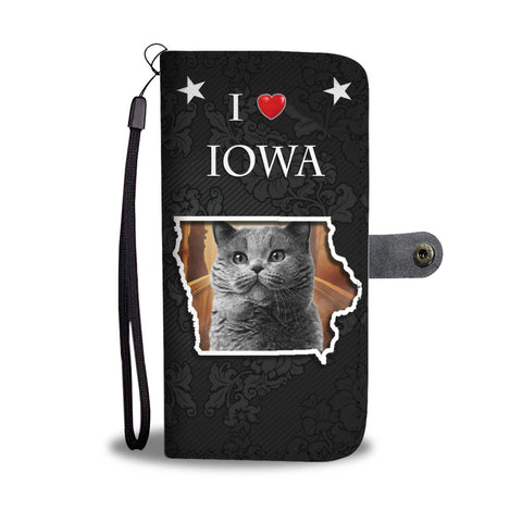 British Shorthair Cat Print Wallet CaseIA State
