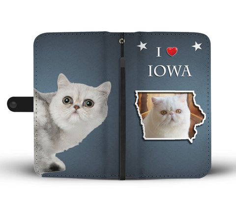 Exotic Shorthair Cat Print WalletIA State