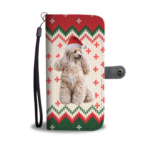 Poodle Dog Christmas Print Wallet Case