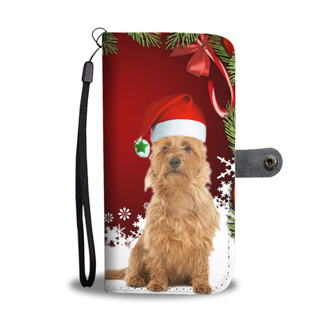 Australian Terrier On Christmas Print Wallet Case
