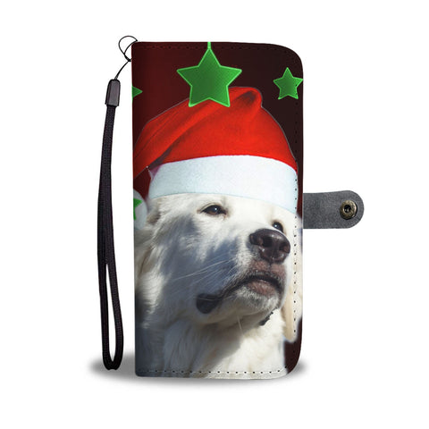 Great Pyrenees On Christmas Print Wallet Case